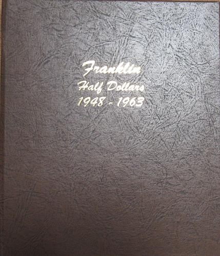 Complete 35 Coin Set of Franklin Half Dollars in average circulation condition