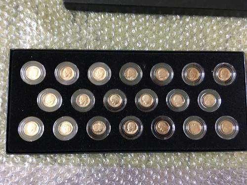 SET OF ROOSEVELT DIMES 1968-S THRU 1987-S, PROOF, ENCAPSULATED