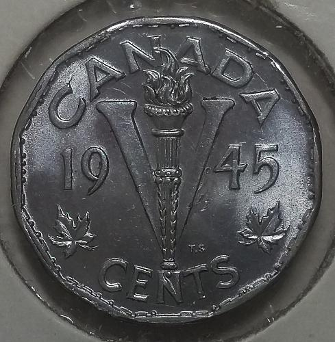 Canada 5 Cents 1945