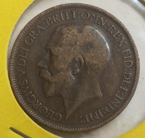 UK Great Britain Half Penny 1918