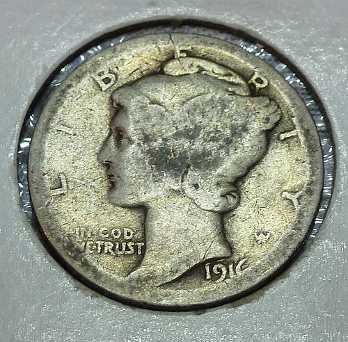 1916-P Mercury Dime   ( 73018G )