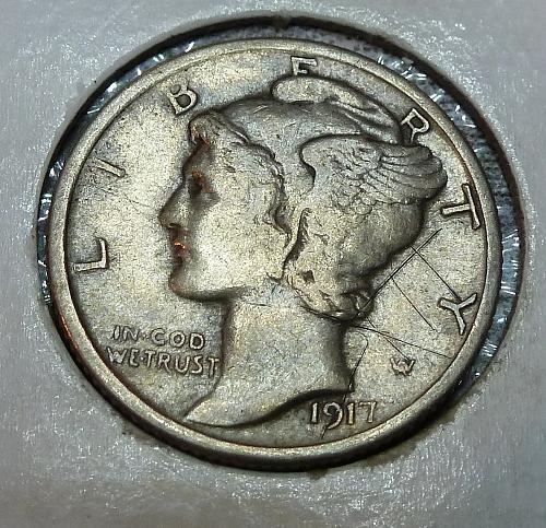 1917-P Mercury Dime   ( 18508 )