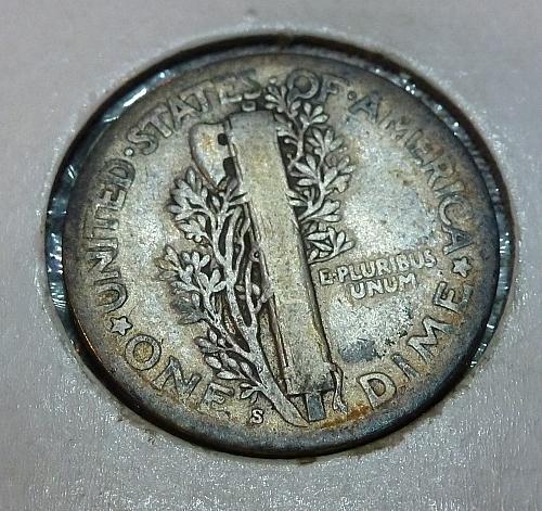 1917-S Mercury Dime   ( 73018D )