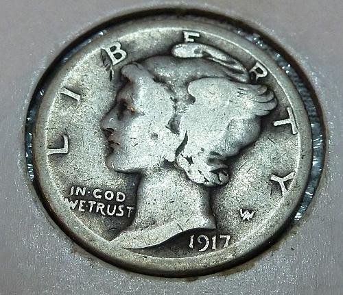 1917-S Mercury Dime   ( 1089)