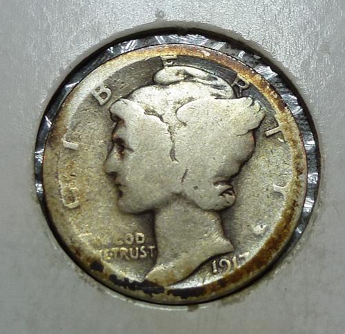 1917-S Mercury Dime   ( 73118G )
