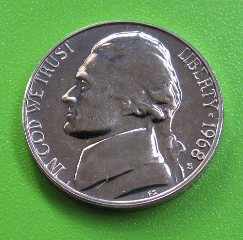 1968-S 5 Cents - Jefferson Nickel (Proof)