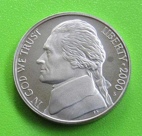 2000-S 5 Cents - Jefferson Nickel (Proof)