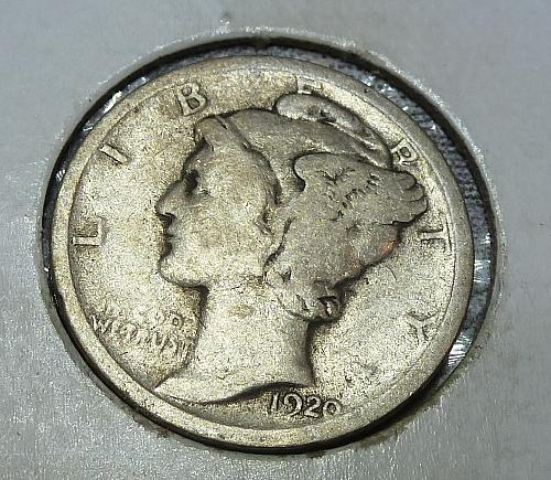 1920-P Very Good Mercury Dime VG Graded (18670)