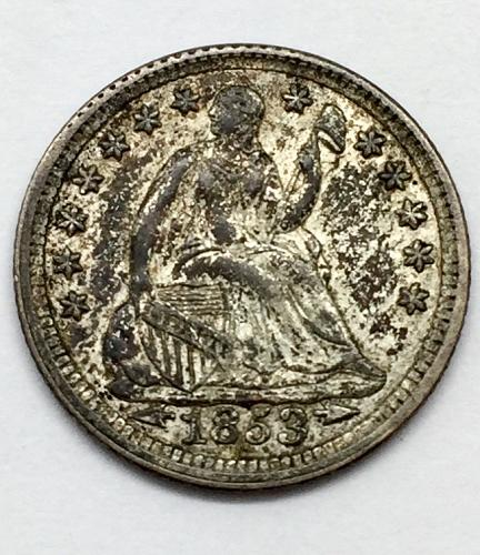 1853 Seated Liberty Half Dime - Arrows at Date