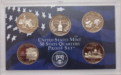 2000 S 5 Quarter Proof Set