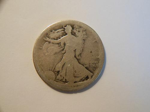 1917-D (Obverse) Walking Liberty Silver Half Dollar