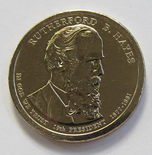 2011-P $1 - Rutherford B. Hayes Presidential Dollar
