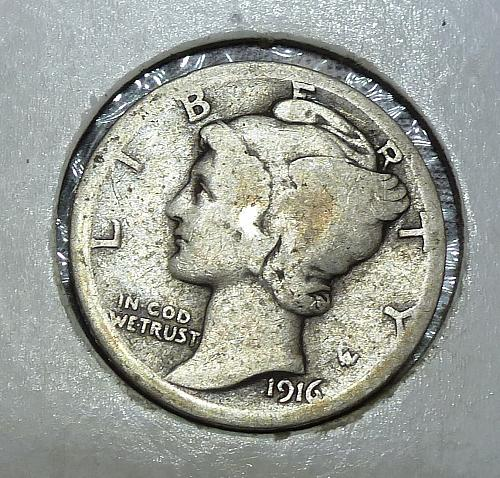 1916-P Mercury Dime   ( 380)