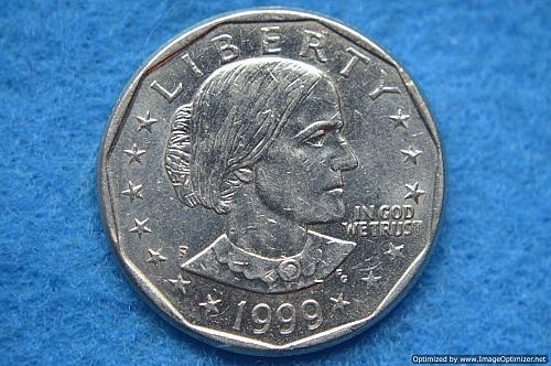 1999 P Susan B Anthony Dollars