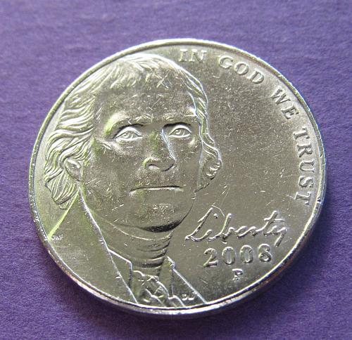 2008-P 5 Cents - Jefferson Nickel