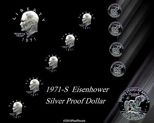 1971-S  PROOF  EISENHOWER SILVER DOLLAR PROOF SILVER  FREE SHIPPING   CLEARANCE