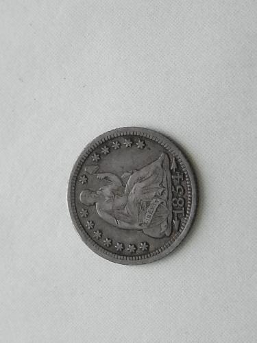 1854 Seated Liberty Half Dime (Variety 3)