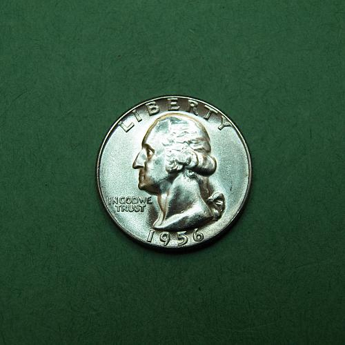 1956 P Washington Quarter Brilliant Uncirculated Coin   q65