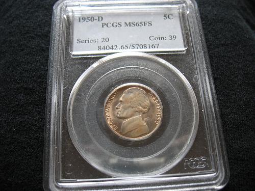 1950 D Jefferson Nickel MS 65 FS