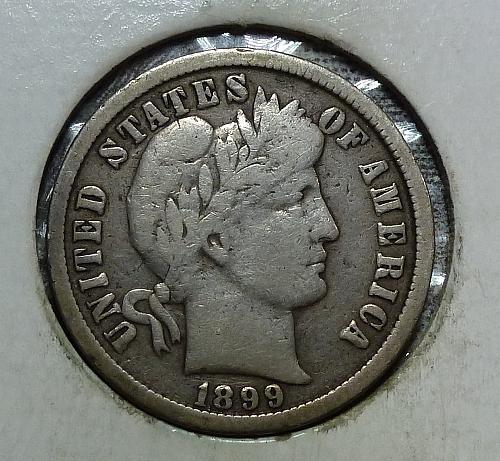 1899-O Grades Full Fine Barber Dime (5221)