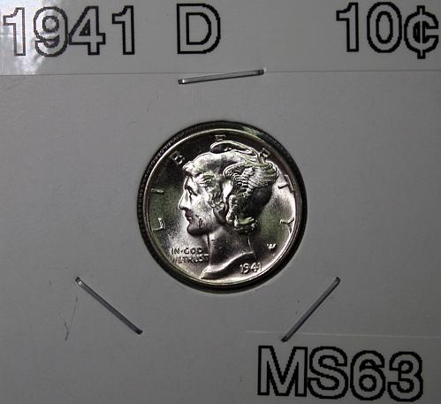 1941 D Mercury Dime - Full Split Band