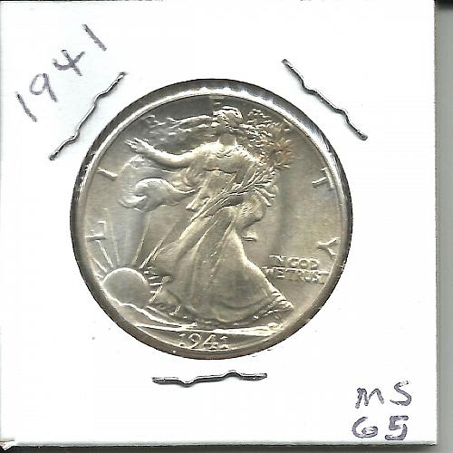 1941     WALKER HALF DOLLAR