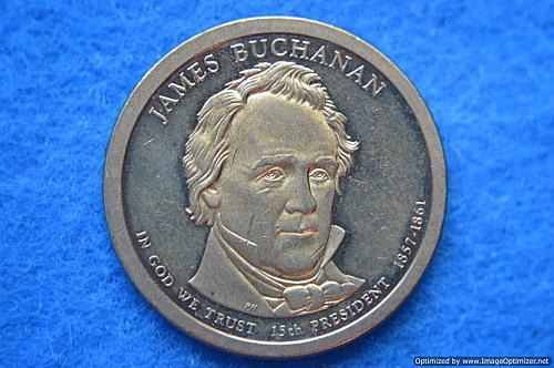 2010 S Proof Presidential Dollars: James Buchanan
