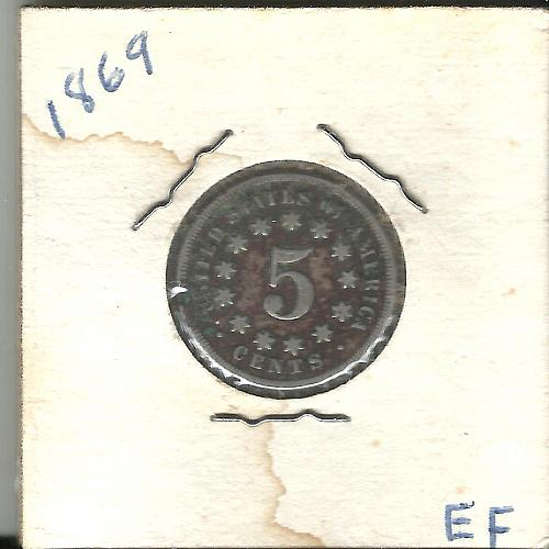 1869 SHIELD  NICKEL