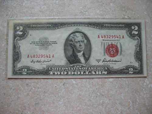 1953 A $ 2.00 United States Note