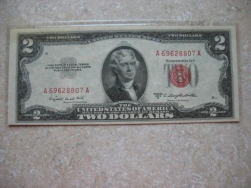1953 B $ 2.00 United States Note