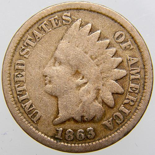 1863 Indian Head Cent #27
