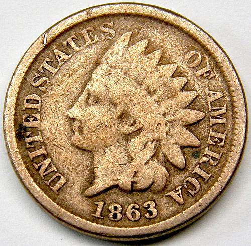 1863 Indian Head Cent #24