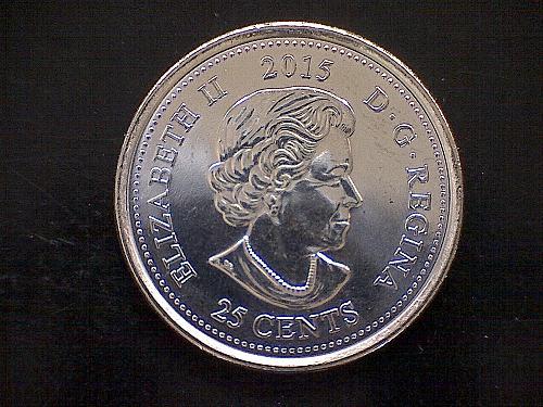 2015 CANADA TWENTY-FIVE CENTS QUEEN ELIZABETH 11