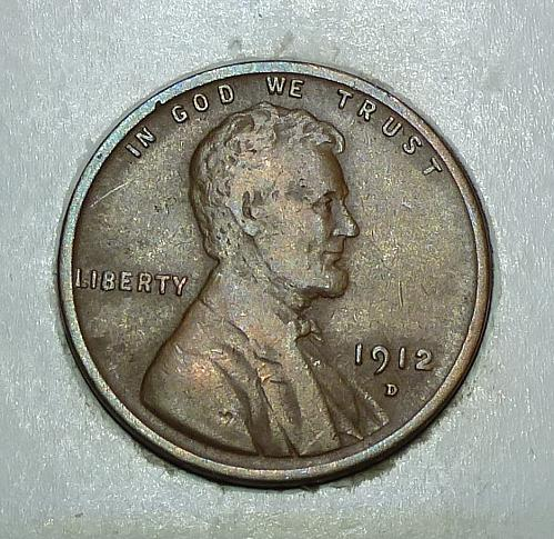 1912 D Very Fine Lincoln Wheat Cent  ( 81218)