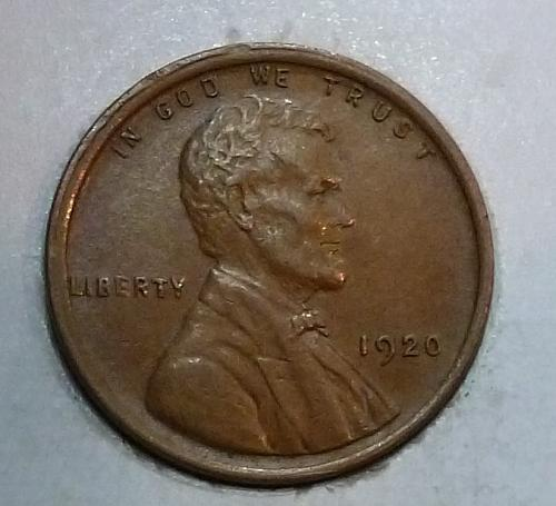 1920-P  About Uncirculated Lincoln Wheat Cent  ( Z81218)