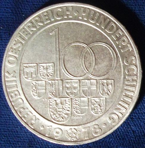 1978 Austria 100 Schilling UNC