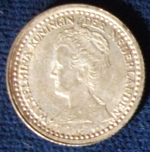 1921 Netherlands 10 Cents AU++