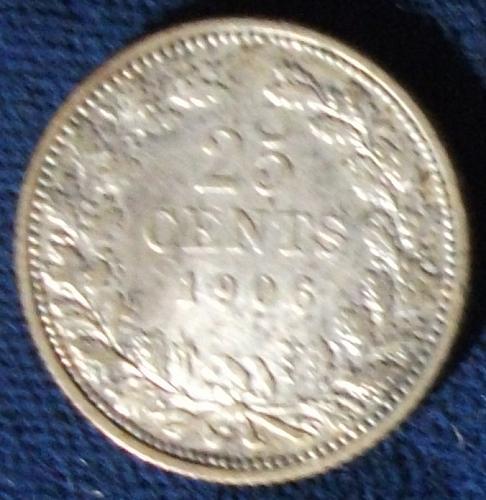 1906 Netherlands 25 Cents VF
