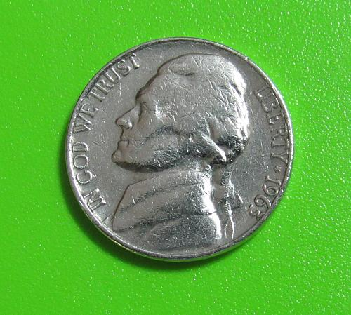 1963-D 5 Cents - Jefferson Nickel