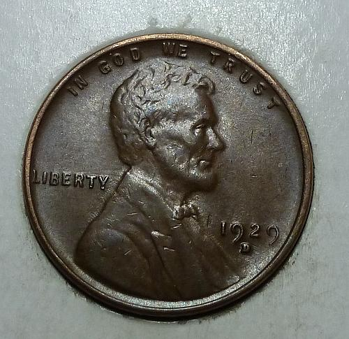 1929 D Extra Fine Lincoln Wheat Cent (1409)