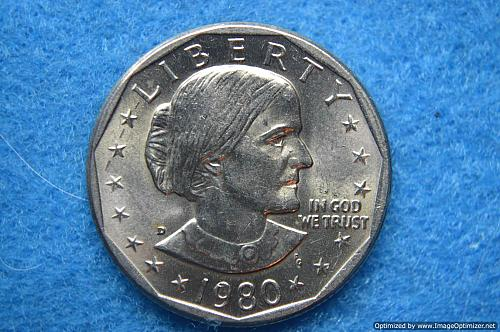 1980 D Susan B Anthony Dollars