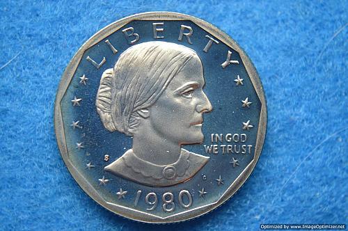 1980 S Susan B Anthony Dollars: Proof