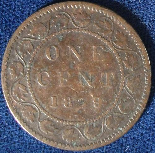 1859 Canada Cent VG