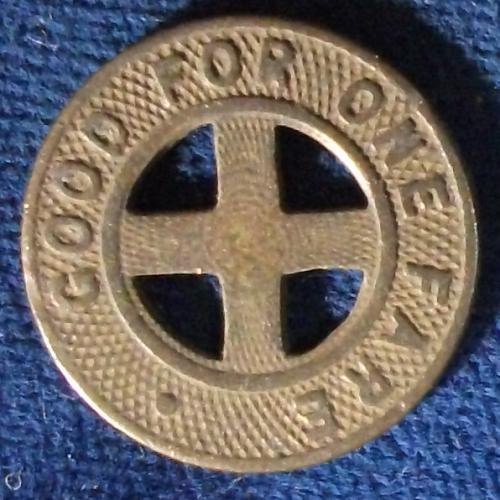New Albany-Louisvile Fare Token, Indiana and Kentucky