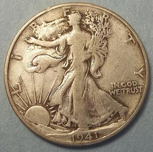 1941p Walking Liberty Lot JUWLca
