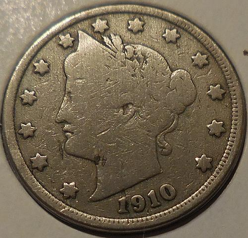 1910 P Liberty Head Nickel