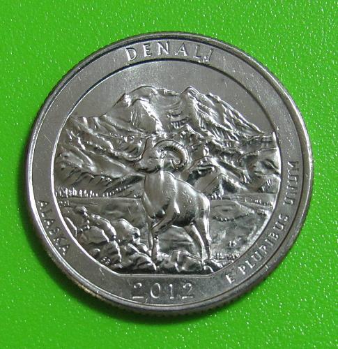 2012-P 25 Cents - Denali Alaska National Parks - America the Beautiful Quarter