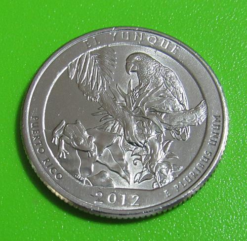 2012-P 25 Cents El Yunque Puerto Rico National Park - America the Beautiful Quar