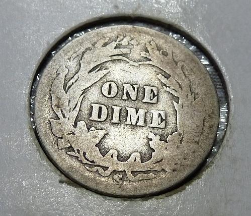 1904-S Grades Full Good Barber Dime (2165)