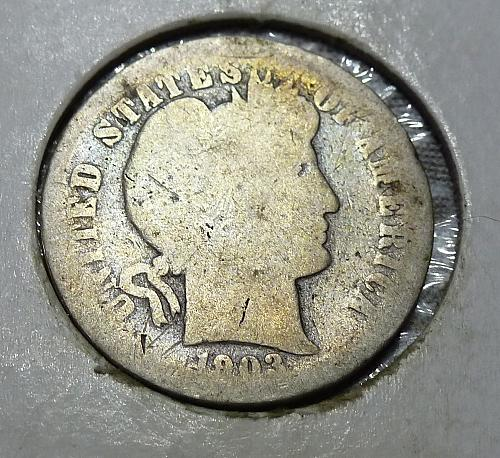 1903-P Grades Full About Good Barber Dime (2162)